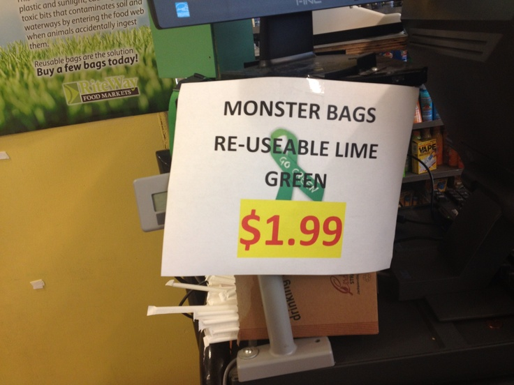 Local supermarket in Tortola just introduced re useable bags!!