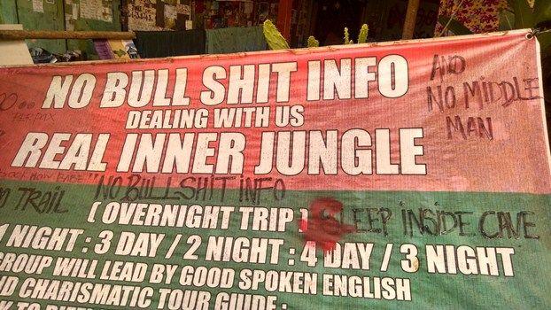 No Bullshit Sign - Cheap Hostel Funny! | The Travel Tart Blog