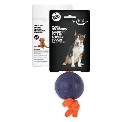 Tastybone Pelota con cuerda para perros medianos y grandes \\ Disponible en https://www.tiendanimal.es/tastybone-pelota-cuerda-para-perros-medianos-grandes-p-9182.html