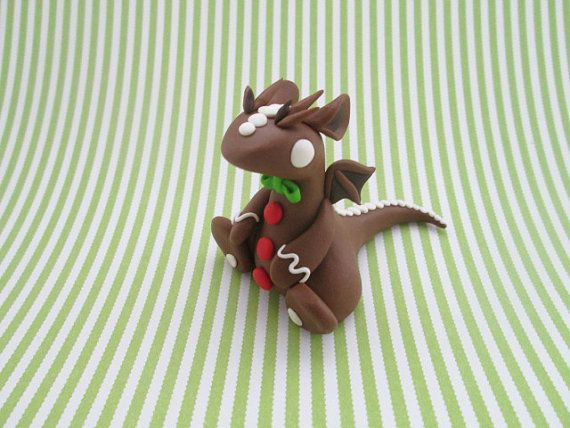 OOAK Brown Hand-made Polymer Clay Gingerbread by KriannaCrafts