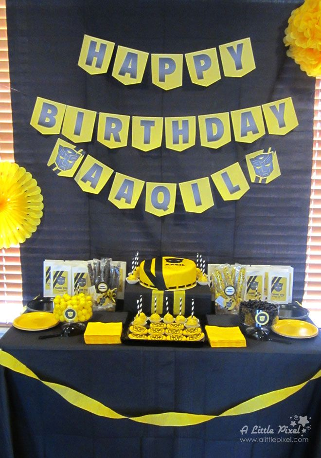 Transformers Bumble Bee Inspired Birthday Theme | A Little Pixel