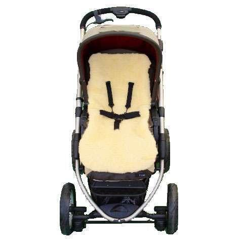Kinderwagen und Autositz Lammfell Einlage