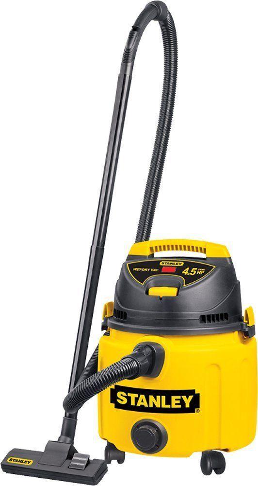 Stanley Pro Poly 8 Gallon 4 5 Peak Hp Wet Dry Vac Black Yellow