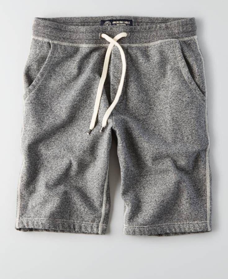 AEO Fleece Jogger (Jogging Shorts), Men's, Heather Grey