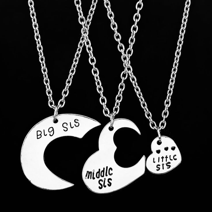 """Find More Pendant Necklaces Information about Hot sale 3 pcs/set """"Big sis middle sis little sis"""" Hollow Heart shaped Pendant Necklaces BFF Best Friends Forever Gift,High Quality gift decor,China gift ides Suppliers, Cheap necklace box from Jewelry Garden on Aliexpress.com"""