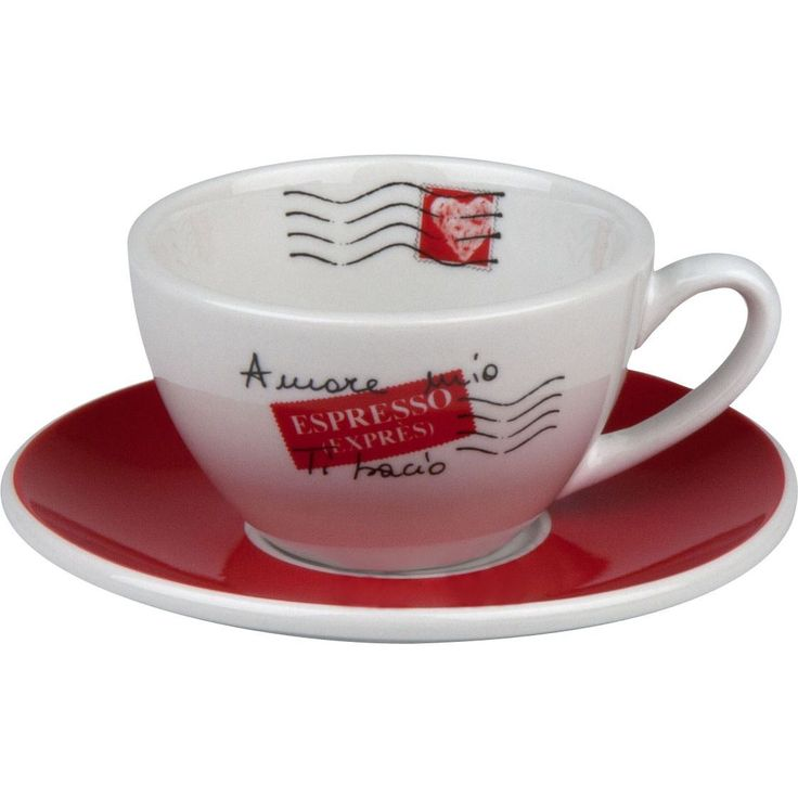 Let every sip of coffee take you deeper into the most picturesque regions of Italy. The Amore Mio collection from Coffee Bar is embellished with excerpts from a love letter. Enjoy this charming design of handwritten words and romantic red and black decor.