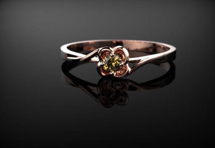 Citrine Ring Rose Gold Engagement Ring Citrine Engagement Ring  Orange Gemstone Engagement Ring Gold Citrine Ring November Birthstone by GoldandSilverCo on Etsy https://www.etsy.com/listing/486620687/citrine-ring-rose-gold-engagement-ring