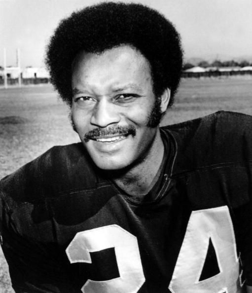 Oakland Raiders player Willie Brown sits for a portrait