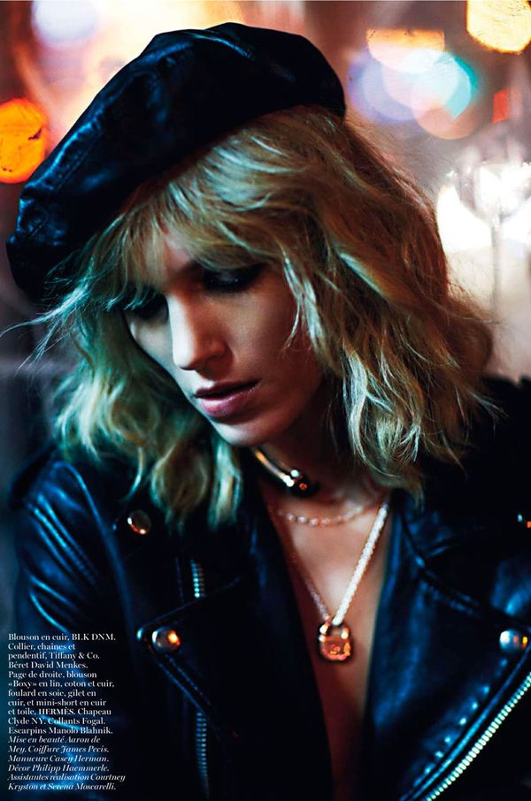 Vogue Paris has declared it New York Partie time. In 'Partie II', Anja Rubik rocks the house from the Carlyle Hotel to Canal Street, lensed by Mario Sorrenti