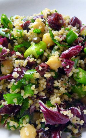 Couscous & Chickpea Salad with Cranberries.. This looks like a fantastic lunch for my Shrinking On a Budget Meal Plan