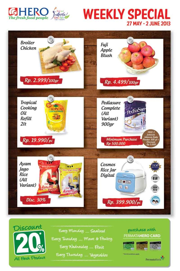 Weekly Special promo (27 May - 02 June 2013)