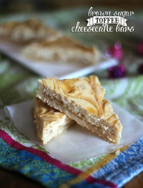 Brown Sugar Toffee Cheesecake Bars