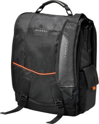 "Everki Urbanite 14.1"" Laptop Vertical Messenger Bag Black - via eBags.com!"
