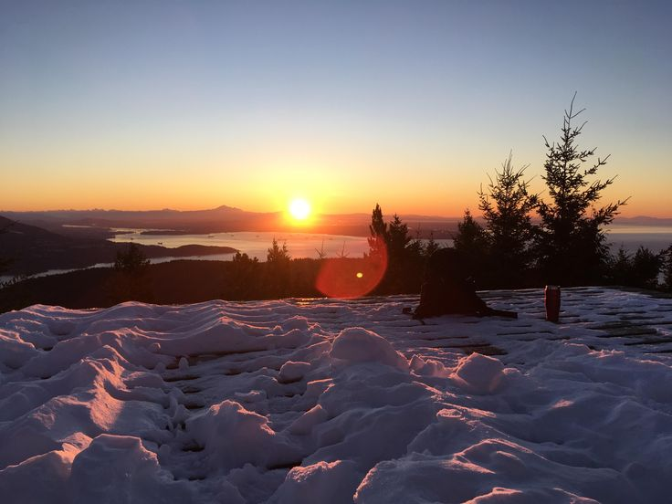 Hiked to the top of the island I live on in the dark and snow to catch the sunrise this morning (BC Canada) #hiking #camping #outdoors #nature #travel #backpacking #adventure #marmot #outdoor #mountains #photography