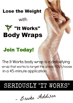 This girls flyer is cute!! Wrap yourself Skinny - It Works Body Wraps   Love this Ask me how to get your sexy back  Https://shannonmuncher.myitworks.com
