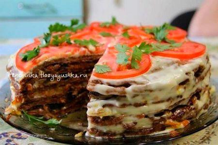 Печеночный торт по-новому - Перчинка хозяюшка