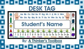 Back To School Desk Tags Grades K-1! Included in this product are desk tags that you can personalize with your student's names. These are common core aligned and are great for Kindergarteners and First Grade.