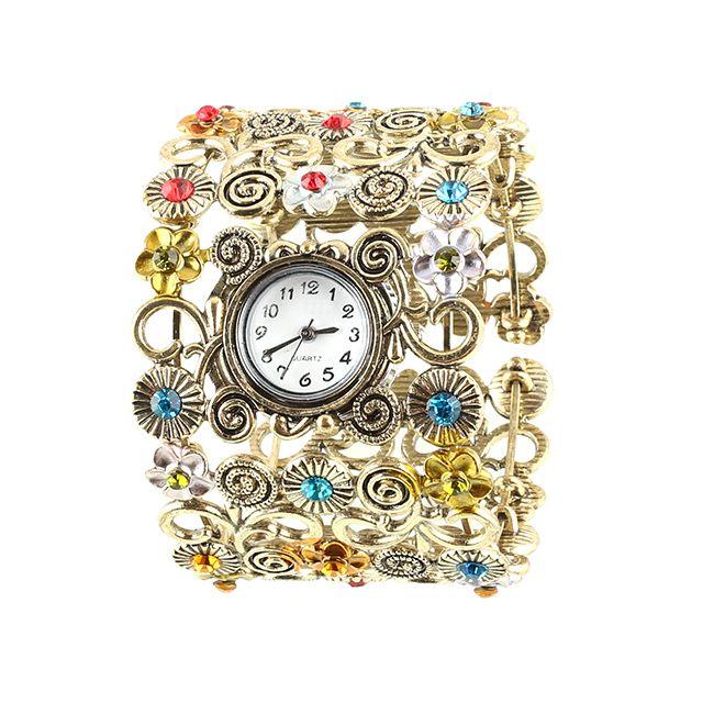 2013 Nuovo #orologio da polso per #donne #bracciale con #pietre colorate classico, a solo 3,99 €uro !!!