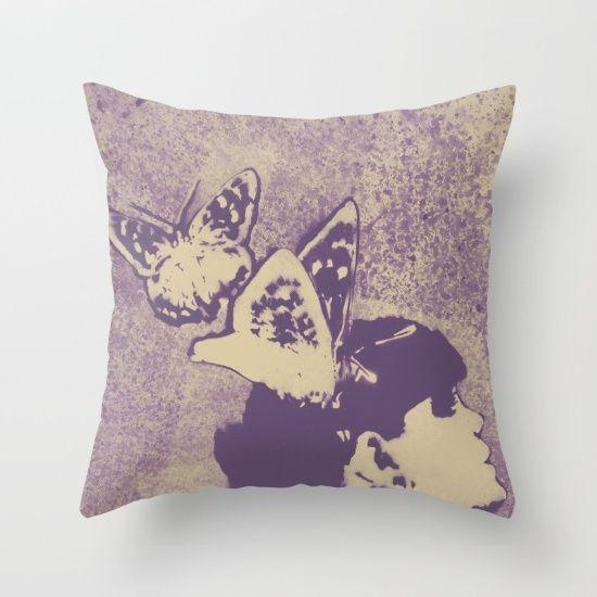 """Long Gone Whisper: Amaranth"" throw pillow • SHOP: https://society6.com/product/long-gone-whisper-amaranth_pillow#25=193&18=126 • #art #drawing #society6 #facebook #etsyshop #butterflies #girl #print #prints #pillow #cuscino #stampa #ritratto #arte #farfalle #ragazza #throwpillow #graffiti #modernart #artforsale #kissmyart #abstract #surreal #etsy #society6 #illustration #portrait #femaleportrait #sexyillustration #homedecor #arredo"