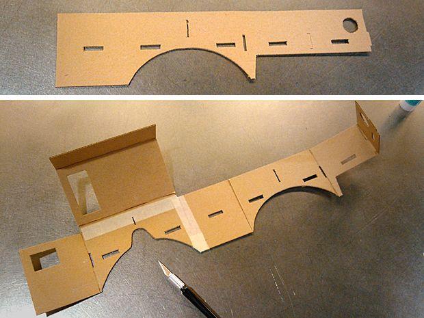 DIY Google Cardboard viewer - cardboard pieces