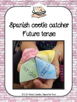 Spanish cootie catcher! Review future tense in Spanish with this classic! Super silly predictions about the future!