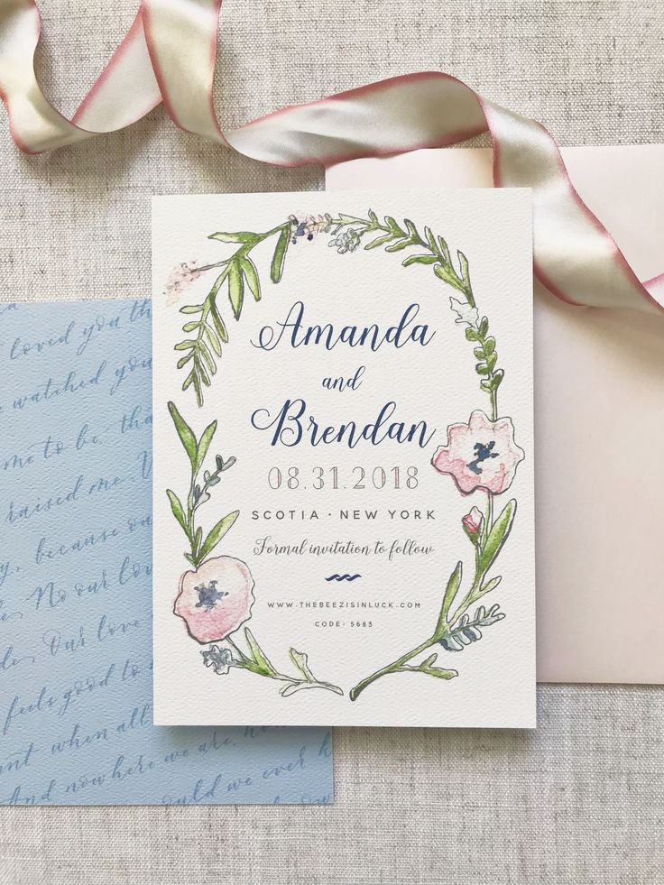 wedding invitation date wording etiquette%0A Watercolor Wreath Save the Date  Flower Wreath  Flower Save the Date   Calligraphy Save