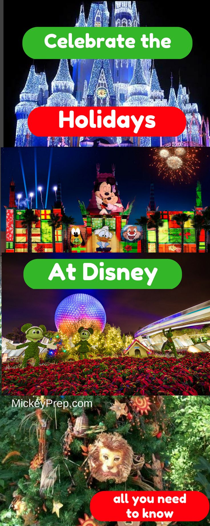 Visiting Disney World during the Holidays?  Here's a list of all there is to do and see!