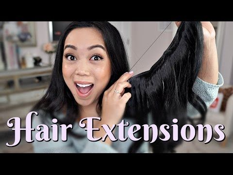 Affordable & Easy Hair Extensions? Secret Hair Extension Double Volume Review - itsjudytime - YouTube