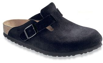 Birkenstock Boston Soft Footbed Black Suede size 39 I think. I like the clog with the buckle :)