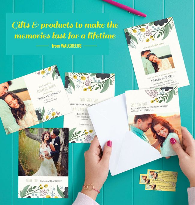 Print Your Own Save The Dates At Walgreens Weddings Wedding And
