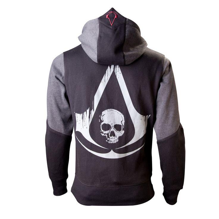 Sweat-Shirt Assassin´s Creed 4 Black Flag Zippé Skull Logo - 49,