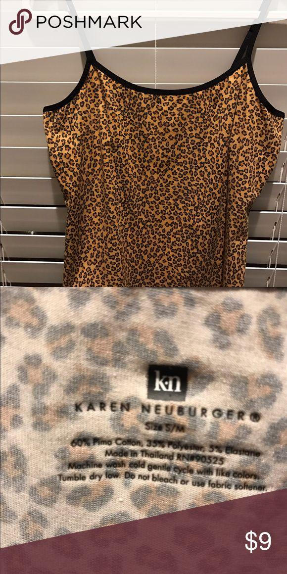 Karen Neuberger animal print cami NWOT Women's Size M cami Karen Neuberger Tops Camisoles