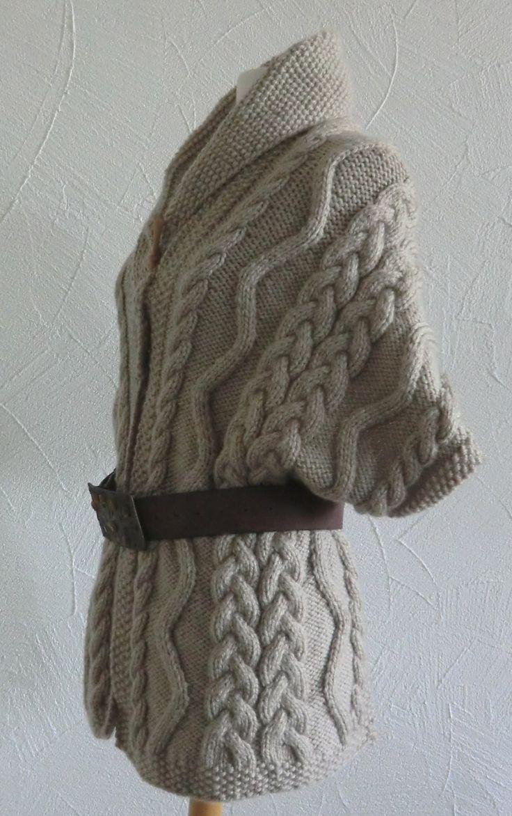 Châle - Étole - Écharpe à col Femme En laine Points motifs Irlandais Taille Unique Tricoté à la main