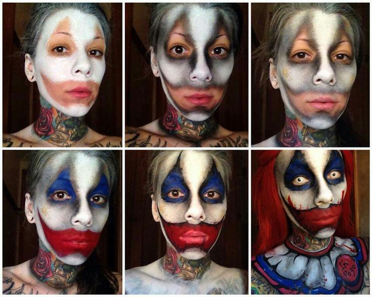 The 25+ best Evil clown makeup ideas on Pinterest ...