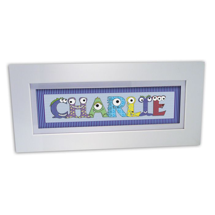 14 best personalised name frames images on pinterest name frame personalised monster name frame for boys from personalised gifts shop only negle Images