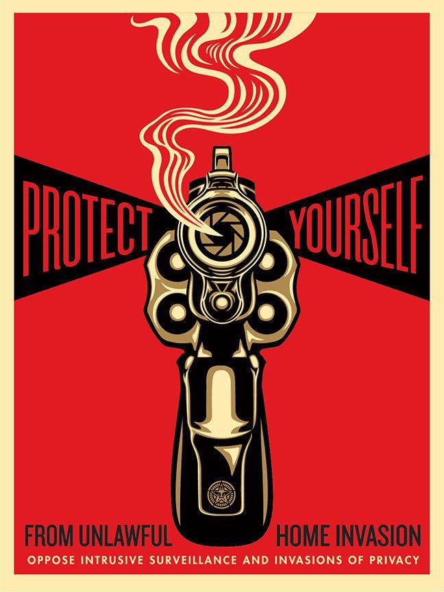 Shepard Fairey Home Invasion 1 2014 Print Poster Obey Giant Gun Pistol Revolver | eBay