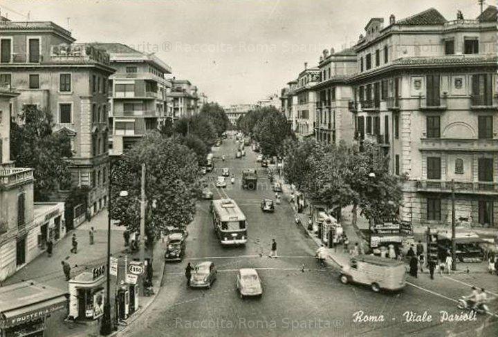 Roma Sparita - Viale Parioli allo sbocco su piazza Ungheria