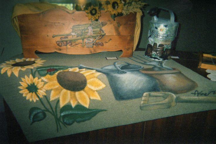 Peinture sur bois et tapis!