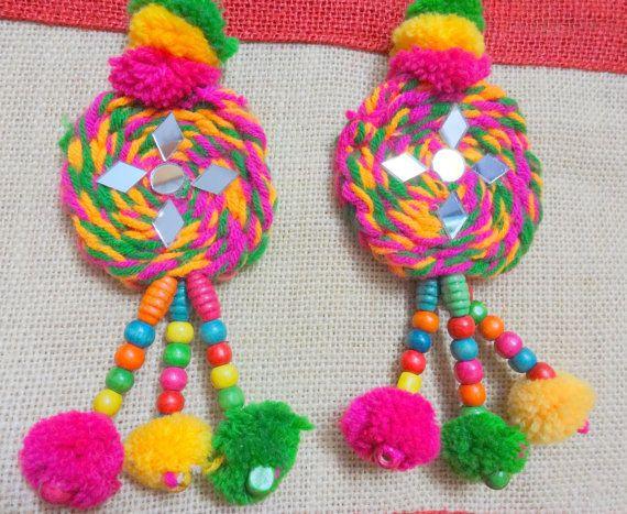 Handmade Mirror Tassels Woolen Tassels Camel by uDazzleSupplies