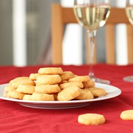Gruyère sablés - addictive, cheesy little French shortbreads that make a great aperitif with a glass of dry white wine.