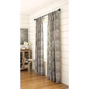 Threshold™ Paisley Curtain Panel   White U0026 Blue