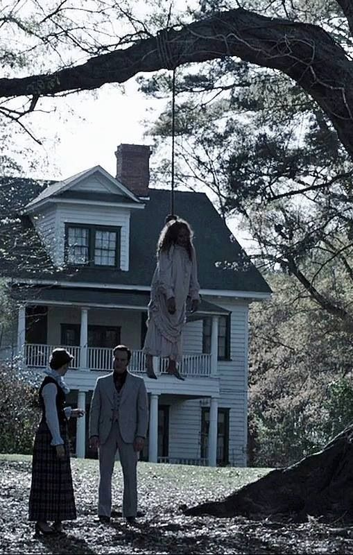 Scene from The Conjuring; I can't imagine how creepy and peculiar this would be to shoot.