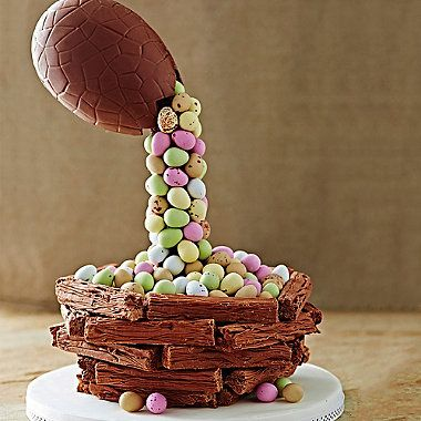Easter Egg Anti-Gravity Cascade Cake - from Lakeland