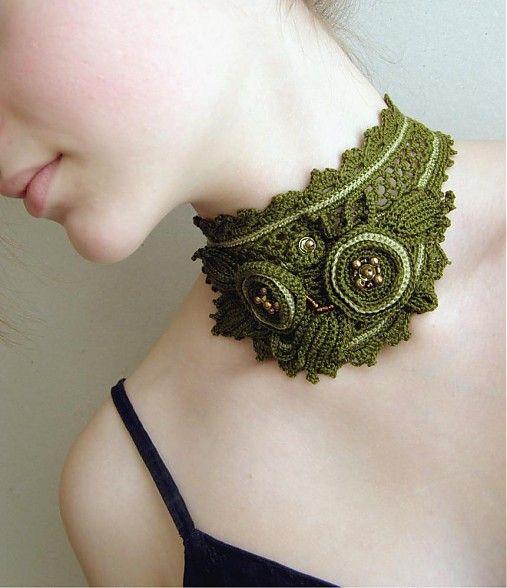 ирландские вязаные украшения на шею фото изысканное покрытие
