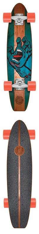 Longboards-Complete 165942: Santa Cruz 6.8In X 28.95In Jammer Stained Hand Pickle Cruiser Skateboard -> BUY IT NOW ONLY: $69.99 on eBay!