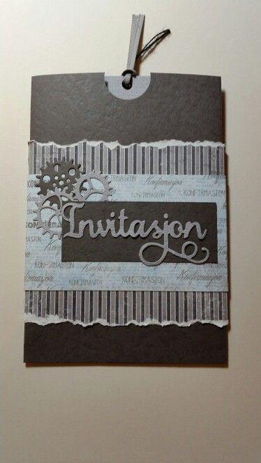 Invitasjon konfirmasjon gutt