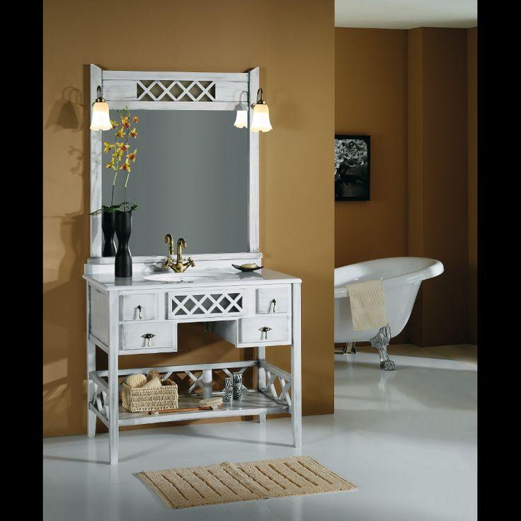 Mueble de #baño #rústico modelo Toscano de #Taberner
