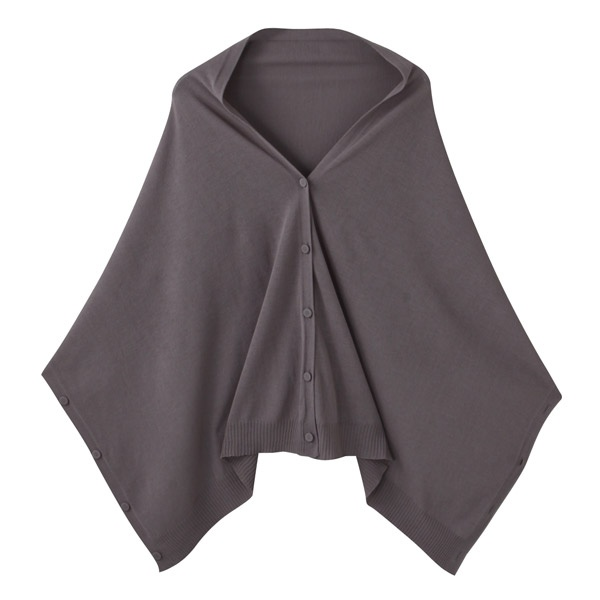 Muji multi function scarf - charcoal