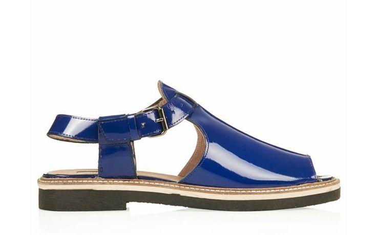 Credit: Topshop Blue peep toe, £58, topshop.com