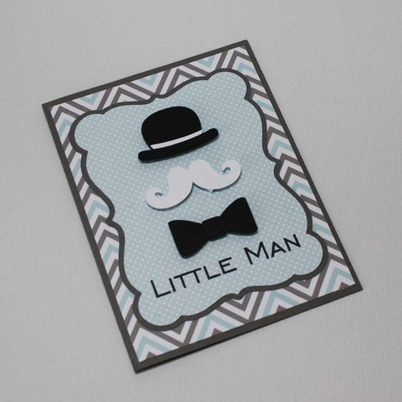 Little Man Invitations - Perfect for Baby Shower or First Birthday by Jilly Bear Designs